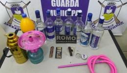 GM acaba com festinha de menores regada a bebida e droga