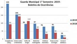 GUARDA MUNICIPAL DE DOURADOS DIVULGA BALANÇO DE AÇÕES DO 1° SEMESTRE DE 2019