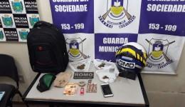 Universitário é preso pela GMD, por tráfico de drogas