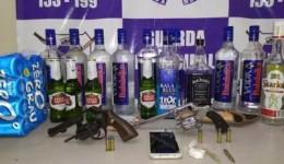 Guarda Municipal de Dourados flagra menores em festa com drogas, bebidas alcoólicas e armas
