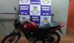 Guarda Municipal prende homem que furtou o próprio Tio e recupera motocicleta furtada