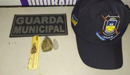Usuário de drogas é preso pela Guarda Municipal