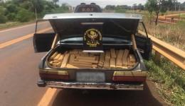 Veículo abandonado com mais de 300 quilos de maconha foi apreendido pelo DOF na região de Dourados