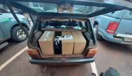 Veículo carregado com quase setecentos pacotes de cigarros contrabandeados do Paraguai foi apreendido pelo DOF na região de Maracaju
