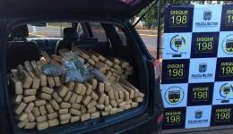 Polícia apreende maconha, skank e R$ 1.784 em espécie