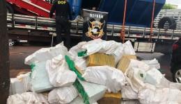 DEFRON apreende duas toneladas e meia de maconha em caminhão