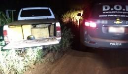 Durante Operação Hórus DOF recupera camionete furtada carregada com mais de uma tonelada de maconha