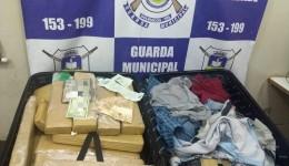 Guarda Municipal de Dourados prendeu na noite de segunda-feira (18) duas pessoas com as malas recheadas de maconha no Terminal Rodoviário.