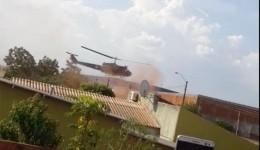 Helicóptero cai durante busca de traficantes na fronteira