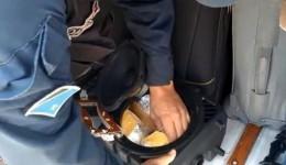 Polícia prende mulher com 'super maconha' em caixa de som