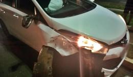 Condutor embriagado é preso pela Guarda Municipal após provocar acidente
