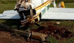 Avião cai em Dourados e deixa 2 feridos