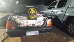 Homem é flagrado pacotes de cigarros do Paraguai