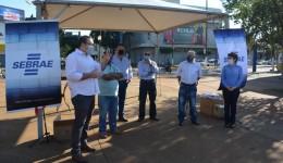 Alan Guedes acompanha ação 'Eu Fui Orientado' do Sebrae/MS