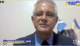 Sergio Nogueira requer pagamento para empresa responsável pela execução dos projetos de drenagem e asfaltamento