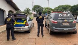 Veículo com registro de furto em São Paulo foi apreendido com maconha pelo DOF durante a Operação Hórus