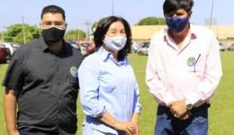 'Não há plano B, C ou D, meu candidato é Wilson Matos', diz Délia Razuk em evento político.