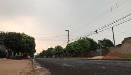 Com ventos e trovões, chuva chega a Dourados