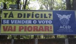 Douradenses vão as ruas para dizer não a compra de votos