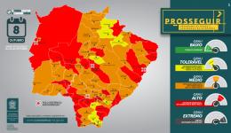 Governo atualiza classificação de risco dos municípios de MS