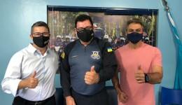 Fabio Luis visita comando da GM e reafirma compromisso com a segurança pública