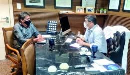Vice-prefeito eleito se reúne com secretário para discutir covid-19