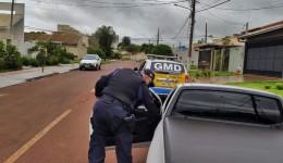 """Condutor fumando """"baseado"""" é preso pela Guarda Municipal"""