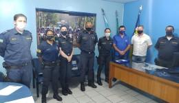 Olavo Sul visita novo comando da Guarda Municipal reafirma compromisso com a instituição.