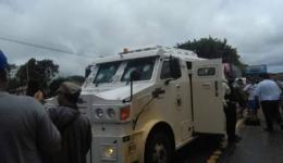 Quadrilha usa até fuzil calibre 50 para assaltar carro-forte no Paraguai