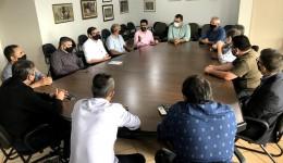 Vereador Sergio Nogueira e prefeito Alan Guedes se reúnem com lideranças do segmento evangélico