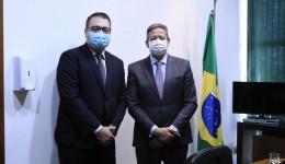 Em Brasília, Alan Guedes tem encontro com líder do governo e presidente da Câmara