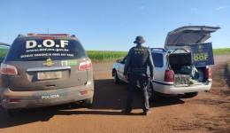Veículo que seguia para o Campo Grande com 100 quilos de maconha foi apreendido pelo DOF durante Operação