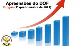 Drogas apreendidas pelo DOF no 1º quadrimestre de 2021 ultrapassam 80 toneladas