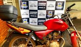 Guarda Municipal recupera moto furtada