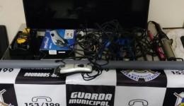 Guarda municipal encontra vários  produtos abandonados