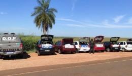 Seis veículos que seguiam para Campo Grande com mercadorias ilegais foram apreendidos pelo DOF durante  Operação