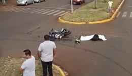 Jovem de 22 anos morre em acidente entre moto e caminhão na Av Marcelino Pires