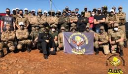 Policiais militares do DOF ministram treinamento operacional em Santa Catarina