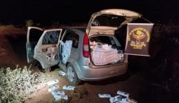 Veículo que seguia com 1500 pacotes de cigarros contrabandeados foi apreendido pelo DOF durante a Operação