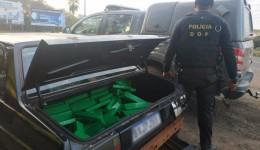 Veículo que seguia com mais de 100 quilos de maconha para São Paulo foi apreendido pelo DOF durante operação