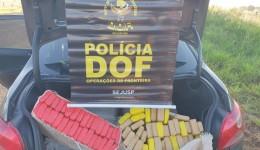 Veículo que seguia para o Paraná com mais de 200 quilos de maconha foi apreendido pelo DOF durante Operação