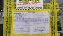 Vigilância Sanitária interdita loja de departamento por descumprir Decreto
