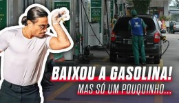 Finalmente Taís foi ouvida e preço da gasolina cai, mas só um pouquinho