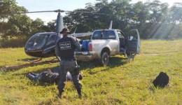 200 kilos de cocaína são apreendidos em helicóptero na região de Batayporã