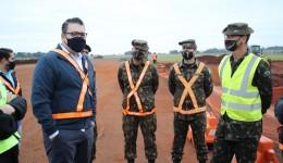 Alan Guedes visita obra de revitalização do Aeroporto de Dourados