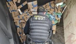 Carreta com mais de uma tonelada de maconha que seguia para São Paulo foi apreendida pelo DOF durante Operação