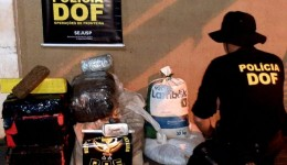 Mais de 160 quilos de drogas foram apreendidos pelo DOF em uma residência no Monte Líbano durante Operação