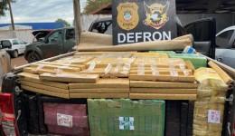 Policiais civis apreendem 2 toneladas de drogas em camionete no trecho Laguna Carapã -Dourados