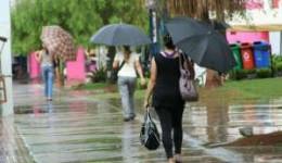 Segunda-feira com chuva no sul e sudoeste e tempo firme nas demais áreas do Estado