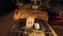 Caminhão carregado com cigarros contrabandeados do Paraguai foi apreendido pelo DOF durante  Operação